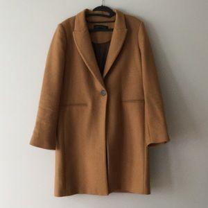 Zara single breasted Camel Coat